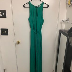 Emerald green J-Lo maxi dress